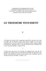 le troisieme testament le livre de la vie veritable