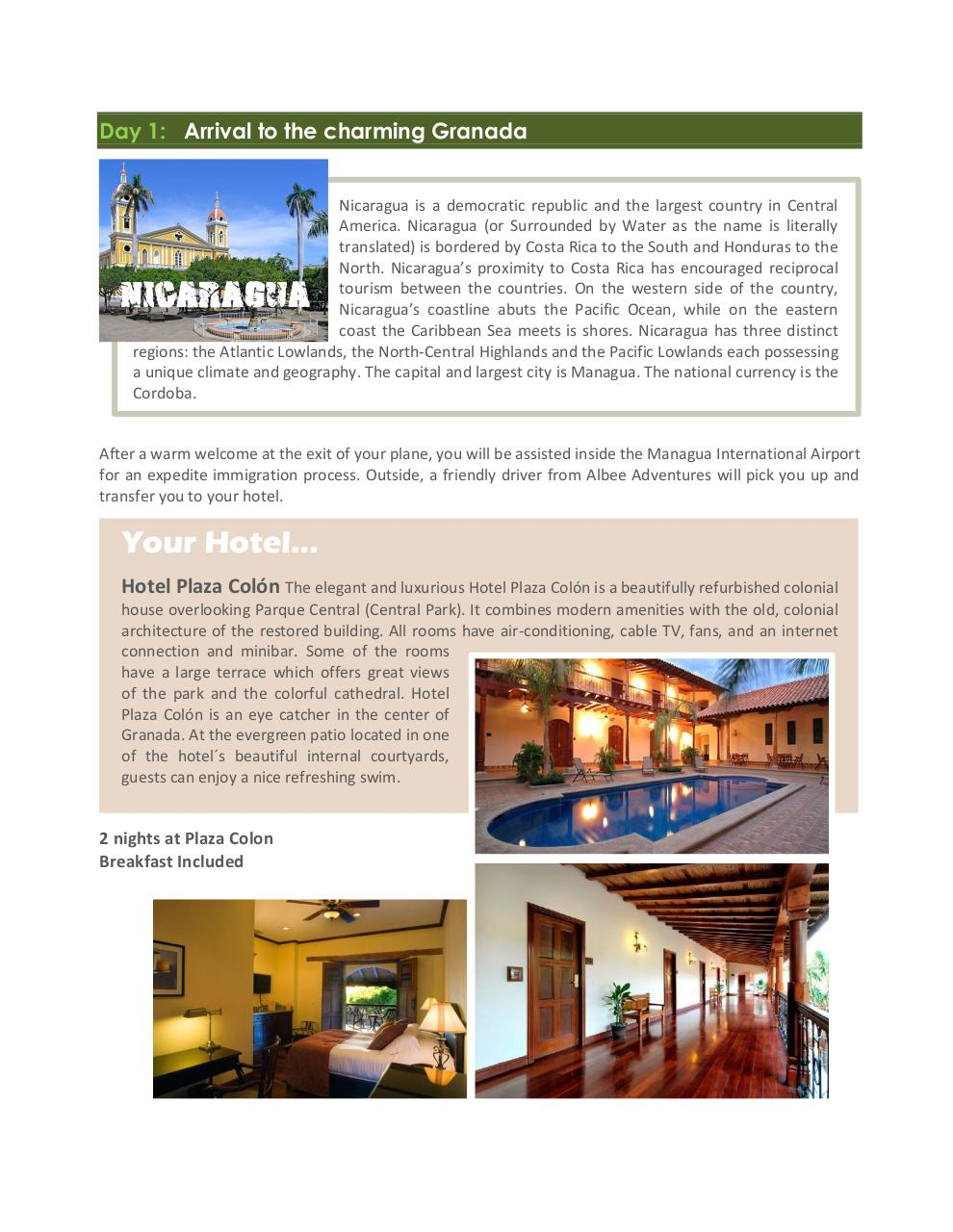 Nicaragua exotic and unspoiled - 8 days.pdf - page 2/9