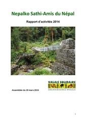 nepalko sathi amis du nepal rapport d activites 2014