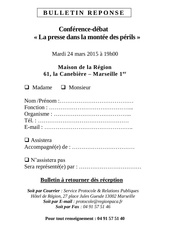 Fichier PDF bulletin reponse