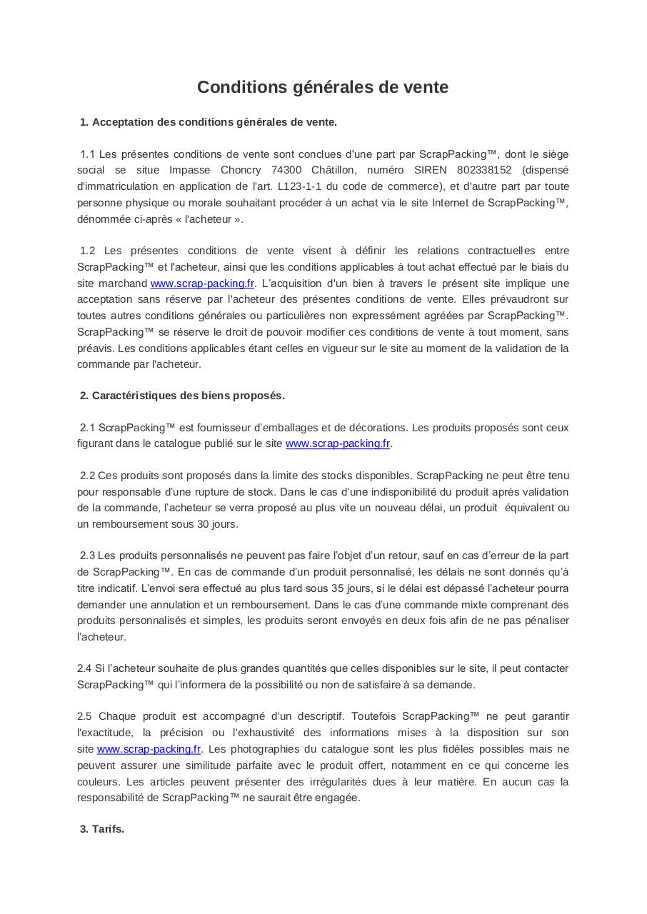 Aperçu du document Conditions générales de vente.pdf - page 1/8