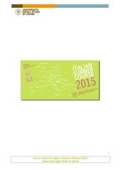 corso intensivo di lingua e cultura italiana 2015