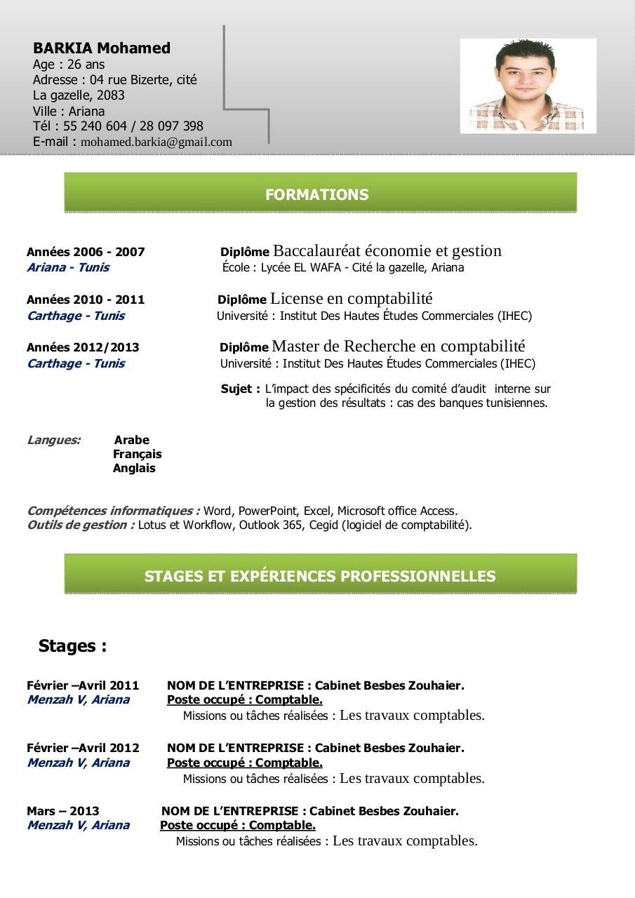cv mohamed barkia ss pdf par mohamed barkia fichier pdf cv mohamed barkia 2014 ss pdf