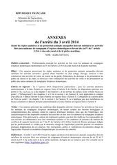 annexes arrete animaux de compagnie 03042014