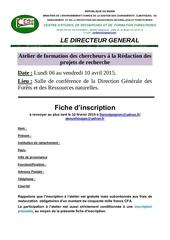 Fichier PDF Atelier De Formation Sur Les Projets Recherche