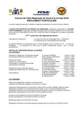 course de cote de gisors 2015 reglement particulier