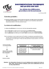 doc 12 cfe cgc gst les delais de procedure licenciement
