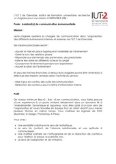 offre stage communication iut2