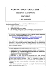 dossier candidature contrat sfr innovacs 2015