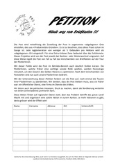 petition schweizerdeutsch