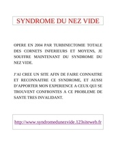 syndrome du nez vide