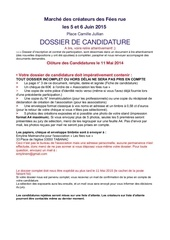 dossier candidature marchee fees rue 5 6 juin 2015