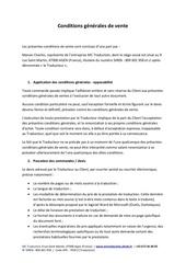 conditions generales de vente pdf