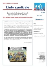 info syndicale n 31 services communs