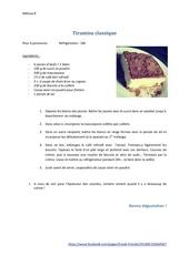 Fichier PDF tiramisu classique