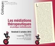 programme colloque revue cliniques