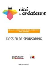 dossier sponsoring 2015 cite de createur