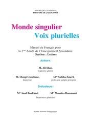 Module1 3e Lettre Manuel De 3as De L Enseignement