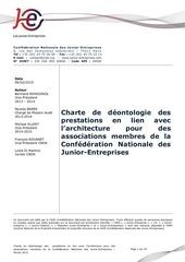 charte de deontologie junior en architecture vf