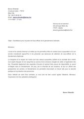 Fichier PDF lettre motivation gendarme