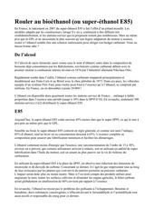 kit ethanol explication