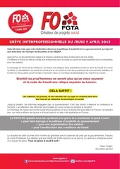 tract fgta pour le 09 avril 2015