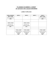 planning exam sem 2 l1 droit 14 15 pr affichage