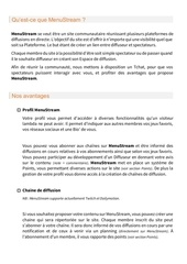 presentation menustream1