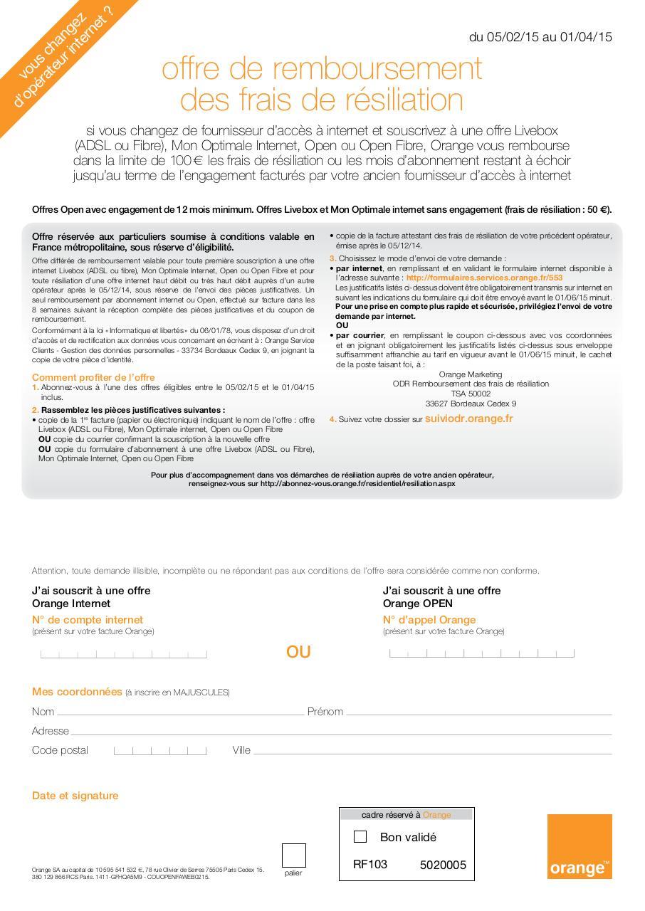 remboursement des frais de r siliation fai fichier pdf. Black Bedroom Furniture Sets. Home Design Ideas