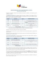 aprobado cronograma escolar costa 2015 2016 31 03 2015 2