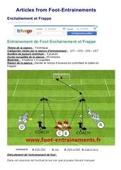 Fichier PDF foot entrainements