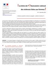 la lettre de l observatoire national des violences faites aux femmes no1 nov 2013 4