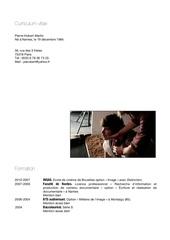 curriculum vitae fevrier 2015