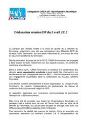 declaration unsa dp tnc atlantique du 2 avril 2015