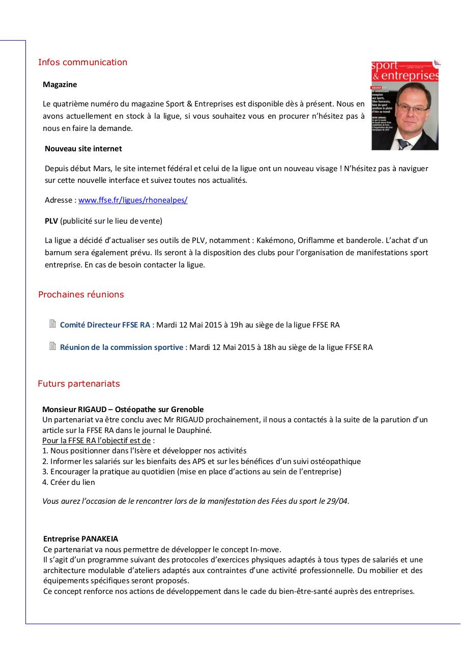 Aperçu du document Newsletter 2 - FFSERA.pdf - page 2/4