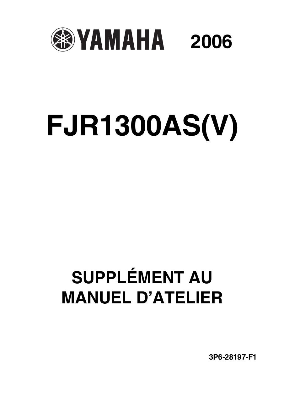 supplement au manuel d atelier fjr1300as v 2006 fichier pdf. Black Bedroom Furniture Sets. Home Design Ideas