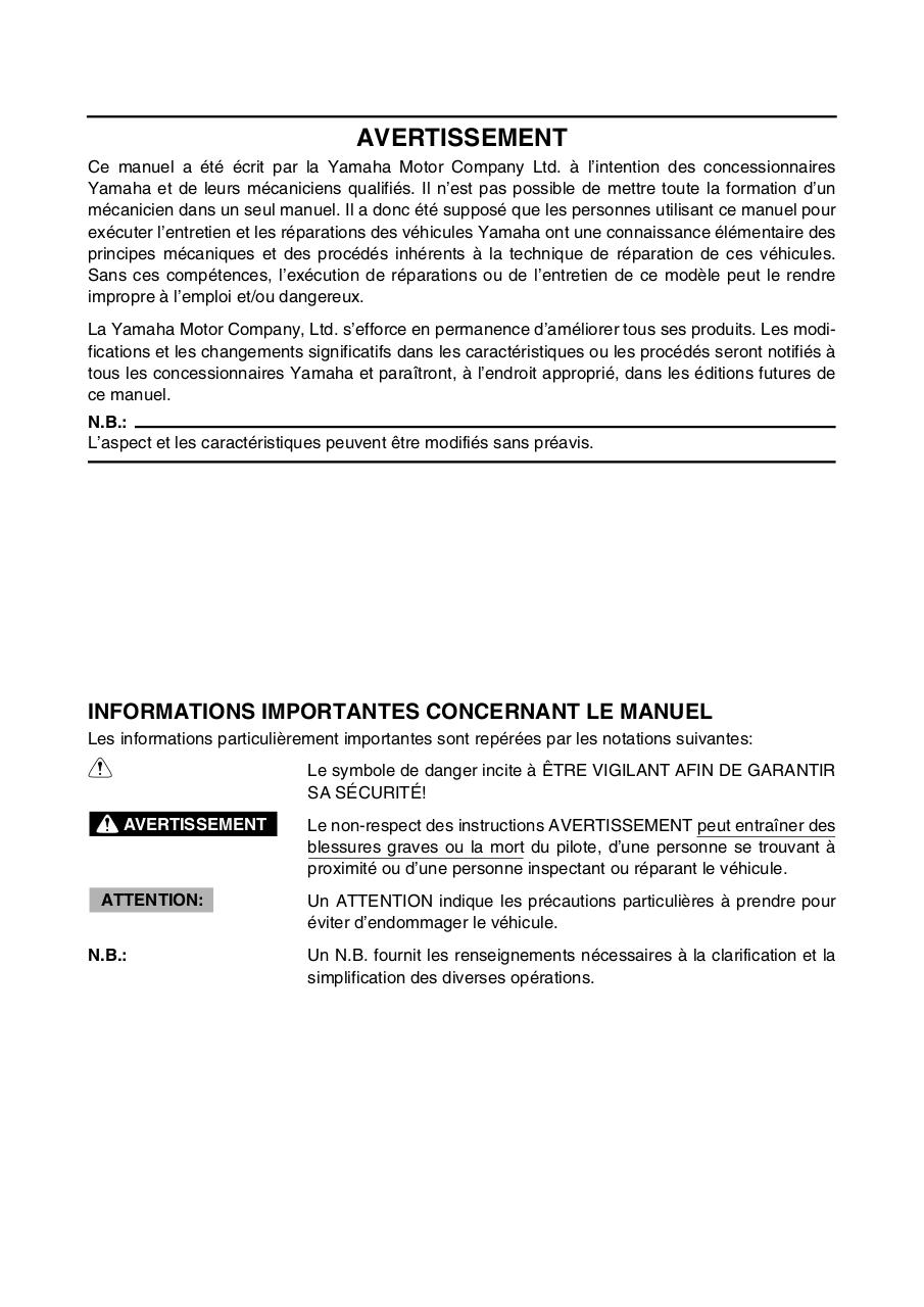 Supplement manuel d'atelier FJR1300 2003.pdf - page 4/162