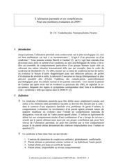 l alienation parentale et ses complications pdf