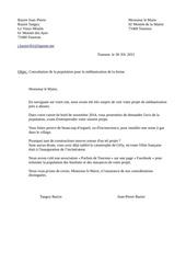 lettre au maire contre la mehtanisation