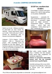 annonce camping car rapido 990f