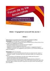 ateliers forum vie asso 24012015