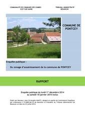 rapport ep zonage d assainissement de pontcey