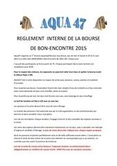 reglement bourse aqua47