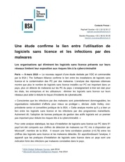 bsa etude idc logiciels sans licences et malware 090315 1