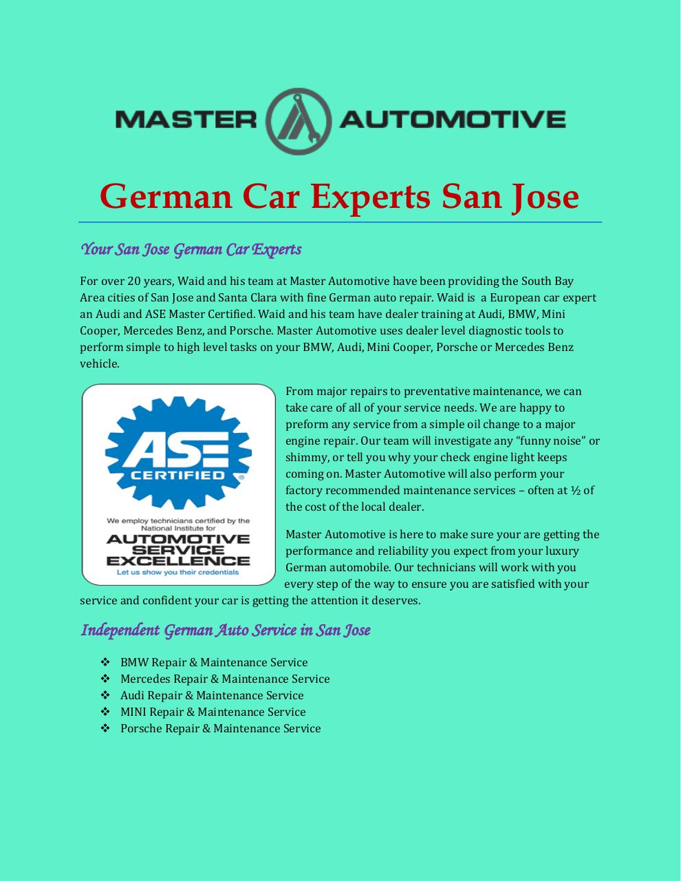 German Car Experts San Jose.pdf - page 1/4