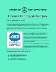 german car experts san jose