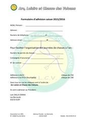 Fichier PDF formulaire adhesion 2015 16