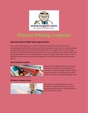 houston printing companies