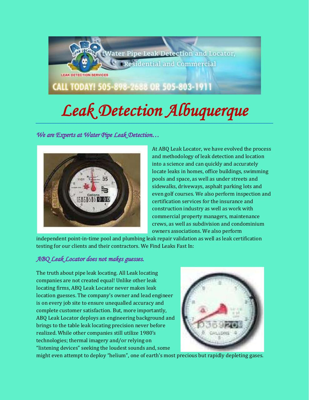 Aperçu du document Leak Detection Albuquerque.pdf - page 1/3
