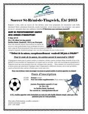 lettre et inscription soccer 2015